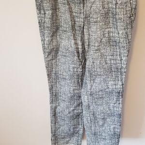 Black,white and gray capris pants
